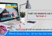 thiết kế website quận 4