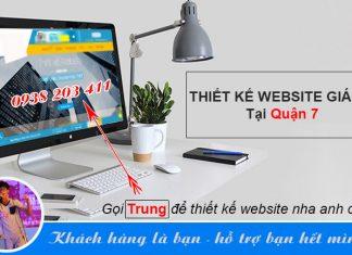 thiết kế website quận 7