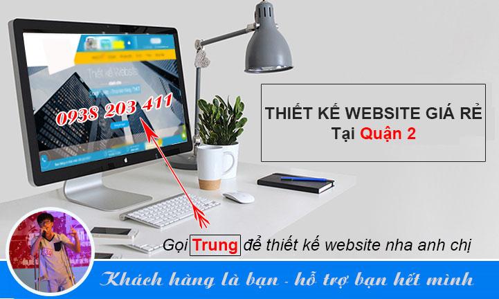 thiết kế website quận 2