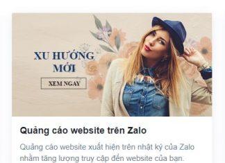 tự quảng cáo website trên zalo